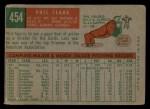 1959 Topps #454  Phil Clark  Back Thumbnail