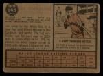 1962 Topps #195 A Joe Cunningham  Back Thumbnail