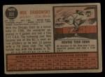 1962 Topps #331  Moe Drabowsky  Back Thumbnail