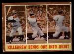 1962 Topps #316   -  Harmon Killebrew Sends One Into Orbit Front Thumbnail
