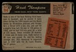 1955 Bowman #94  Hank Thompson  Back Thumbnail