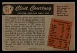 1955 Bowman #34  Clint Courtney  Back Thumbnail