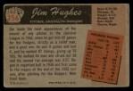 1955 Bowman #156  Jim Hughes  Back Thumbnail