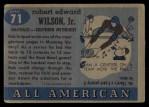 1955 Topps #71  Bob Wilson  Back Thumbnail