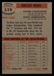 1956 Topps #119   Bears Team Back Thumbnail