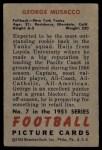 1951 Bowman #7  George Musacco  Back Thumbnail