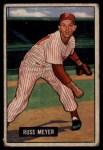 1951 Bowman #75  Russ Meyer  Front Thumbnail