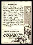 1964 Donruss Combat #27   Moving In! Back Thumbnail