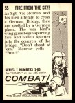 1964 Donruss Combat #55   Fire From the Sky! Back Thumbnail