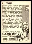 1964 Donruss Combat #9   Combat! Back Thumbnail