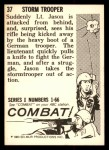 1964 Donruss Combat #37   Storm Trooper Back Thumbnail