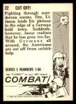 1964 Donruss Combat #22   Cut Off! Back Thumbnail