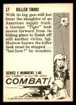 1964 Donruss Combat #17   Killer Tank! Back Thumbnail