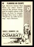 1964 Donruss Combat #48   Planning an Escape! Back Thumbnail