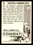 1964 Donruss Combat #26   Scouting Command Post! Back Thumbnail