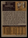 1971 Topps #18  Gary Cuozzo  Back Thumbnail