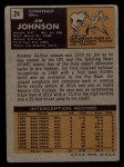 1971 Topps #24  Jimmy Johnson  Back Thumbnail