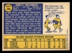 1970 Topps #389 *ERR* Jim Shellenback  Back Thumbnail