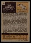 1971 Topps #49  Horst Muhlmann  Back Thumbnail