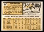 1963 Topps #521  Dan Pfister  Back Thumbnail