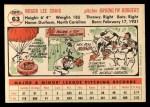 1956 Topps #63  Roger Craig  Back Thumbnail