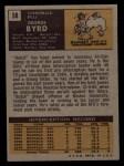 1971 Topps #58  George Byrd  Back Thumbnail