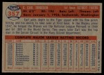 1957 Topps #357  Earl Torgeson  Back Thumbnail