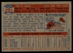 1957 Topps #291  Windy McCall  Back Thumbnail