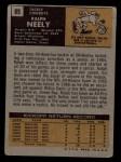 1971 Topps #89  Ralph Neely  Back Thumbnail