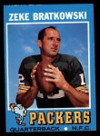 1971 Topps #111  Zeke Bratkowski  Front Thumbnail