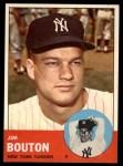1963 Topps #401  Jim Bouton  Front Thumbnail