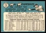 1965 Topps #179  Hal Woodeshick  Back Thumbnail