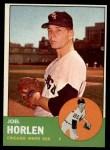 1963 Topps #332  Joel Horlen  Front Thumbnail
