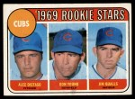 1969 Topps #602 *ERR*  -  Alec Distaso / Don Young / Jim Qualls  Cubs Rookies Front Thumbnail