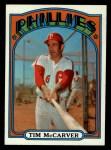 1972 Topps #139  Tim McCarver  Front Thumbnail