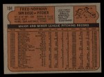 1972 Topps #194  Fred Norman  Back Thumbnail