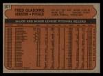 1972 Topps #507  Fred Gladding  Back Thumbnail