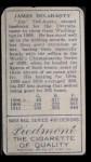 1911 T205 #41  Jim Delahanty  Back Thumbnail