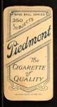 1909 T206 #8  Frank Arellanes  Back Thumbnail