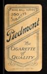 1909 T206 #15  Cy Barger  Back Thumbnail