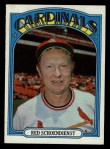 1972 Topps #67  Red Schoendienst  Front Thumbnail
