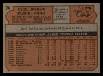 1972 Topps #74  Cecil Upshaw  Back Thumbnail