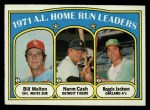 1972 Topps #90   -  Reggie Jackson / Norm Cash / Bill Melton AL HR Leaders   Front Thumbnail