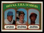 1972 Topps #91   -  Dave Roberts / Tom Seaver / Don Wilson NL ERA Leaders   Front Thumbnail