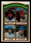 1972 Topps #93   -  Steve Carlton / Al Downing / Fergie Jenkins / Tom Seaver NL Pitching Leaders   Front Thumbnail