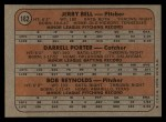 1972 Topps #162   -  Darrell Porter / Bob Reynolds /Jerry Bell Brewers Rookies   Back Thumbnail
