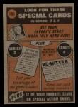 1972 Topps #180   -  Dock Ellis In Action Back Thumbnail