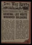 1962 Topps Civil War News #39   General Lee Back Thumbnail