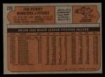 1972 Topps #220  Jim Perry  Back Thumbnail
