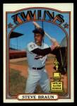 1972 Topps #244  Steve Braun  Front Thumbnail